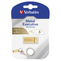 Mini Memoria USB 3.0 Verbatim con Portachiavi 32GB Oro
