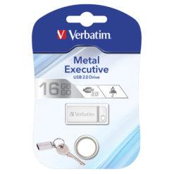 Mini Memoria USB Verbatim con Portachiavi 16GB Silver
