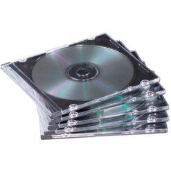 Porta CD Slim Jewel Case Nero