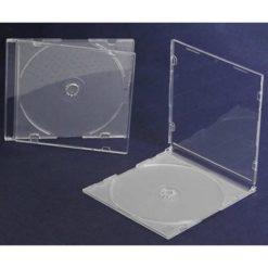 Porta Cd Slim Jewel Case Trasparente