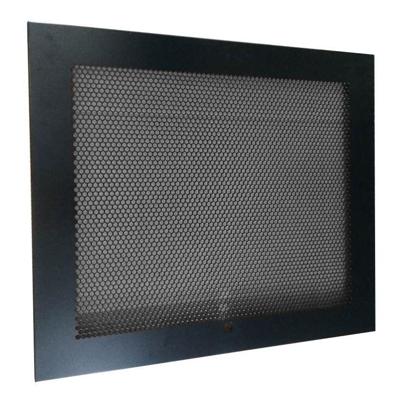 Porta Grigliata per Armadio a Muro 12 unità Nero