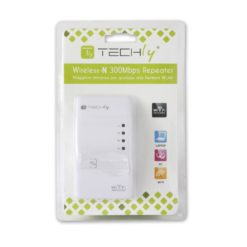 Ripetitore Wireless 300N (Range Extender) con WPS, spina UK