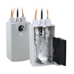 Scatola di Distribuzione Fibra Ottica Compatta IP54 SC/LC RAL7035