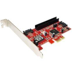 Scheda PCI Express 2xSATA + 1xATA133/IDE