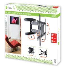 Supporto a Muro Ultra Slim per TV LED LCD 40-65'' Full Motion Nero