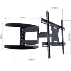 Supporto a Muro Ultra Slim per TV LED LCD 40-65'' Full Motion Nero