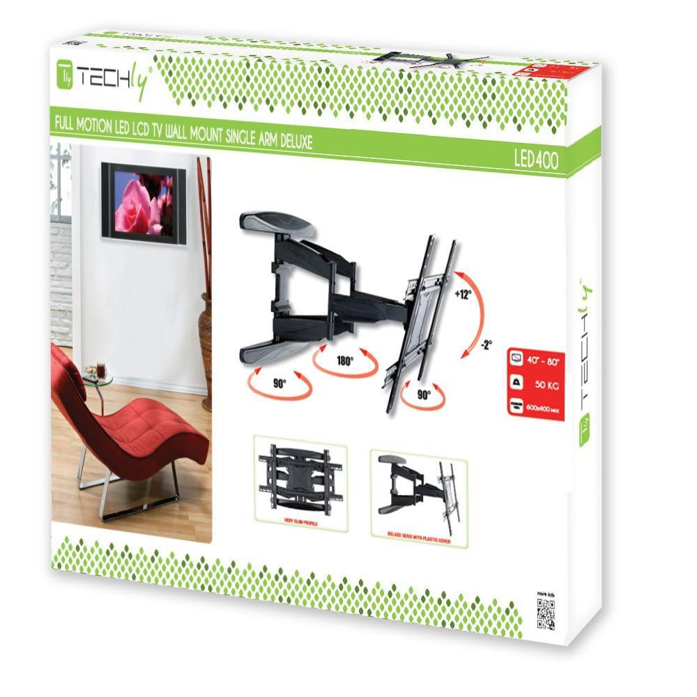 Supporto a Muro Ultra Slim per TV LED LCD 40-80'' Full Motion Nero