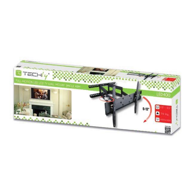 Supporto a Muro per TV LED LCD 23-55'' Full Motion Braccio Doppio