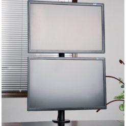 Supporto da Scrivania per 2 Monitor 13-27'' con Morsetto