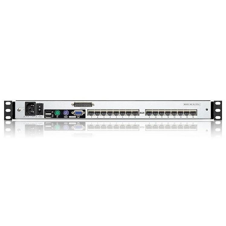 Switch KVM Cat.5E/6 a 16 porte con LCD 17'' Dual Rail, KL1516AM