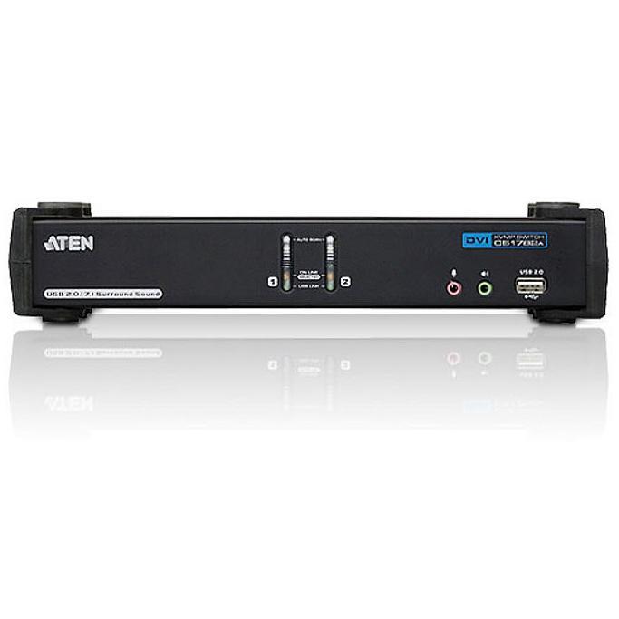 Switch KVM USB DVI Dual Link a 2 porte con audio e hub USB, CS1782A