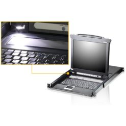 Switch KVM USB-PS2 VGA 16 porte LCD 19'' e porta USB rack 19'', CL5716N