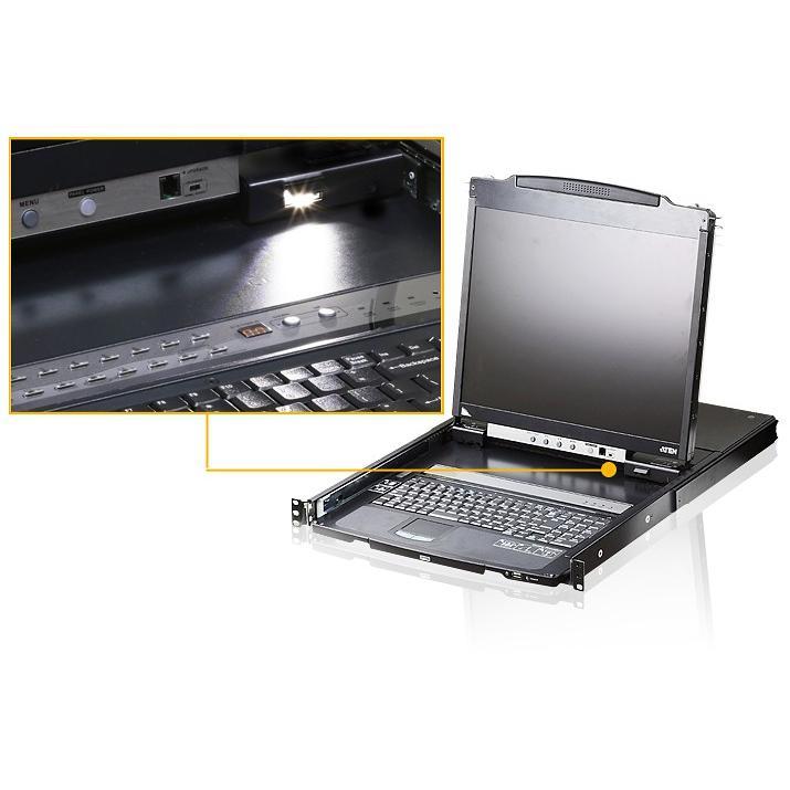 Switch KVM USB-PS2 VGA 8 porte LCD 19'' e porta USB Dual Rail, CL5808N