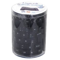Tastiera Flessibile in Silicone USB/PS2 109 Tasti Layout Tedesco Nero