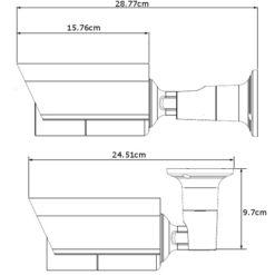 Telecamera IP PoE IR Varifocale da Soffitto Parete 2MP AVM552FP