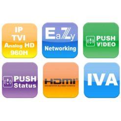 Videoregistratore 4 Canali Real Time HD CCTV DVR Push Video, AVZ404