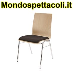 K&M legs chrome, seating beech wood natural Stacking chair 13410-000-02