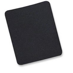 Tappetino per Mouse, 6 mm, Bulk, 25x22 cm, Nero