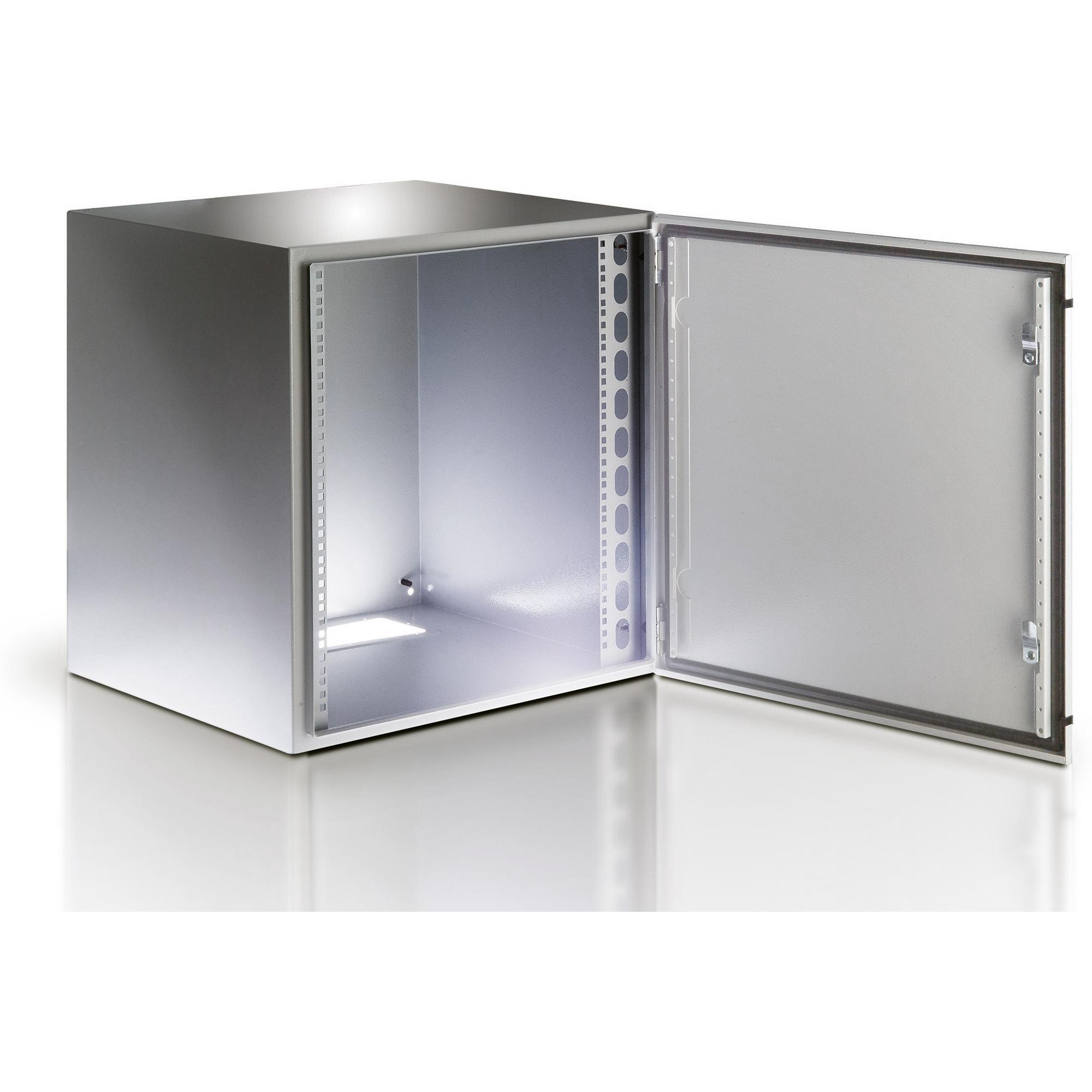 Armadio Rack 19'' a muro 17U grigio IP65 porta vetro