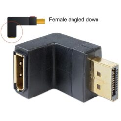 Adattatore Displayport 1.1 maschio a DisplayPort femmina angolato verso il basso