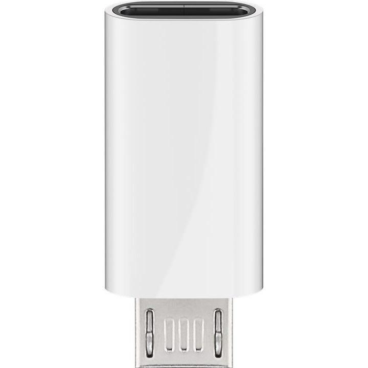 Adattatore Micro USB Maschio a USB-C™ Femmina Bianco