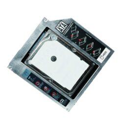 Adattatore SATA HDD Caddy per HDD/SSD da 12,7mm Nero
