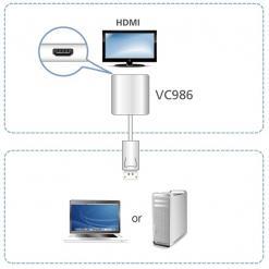 Adattatore attivo da DisplayPort a 4K HDMI, VC986