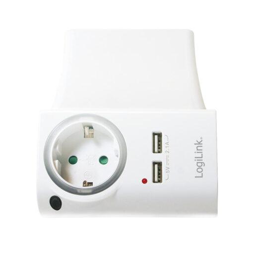 Adattatore con porte USB 4-in-1 con porta telefono