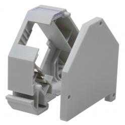 Adattatore per Guida DIN per Connettore RJ45 1 Porta in Plastica