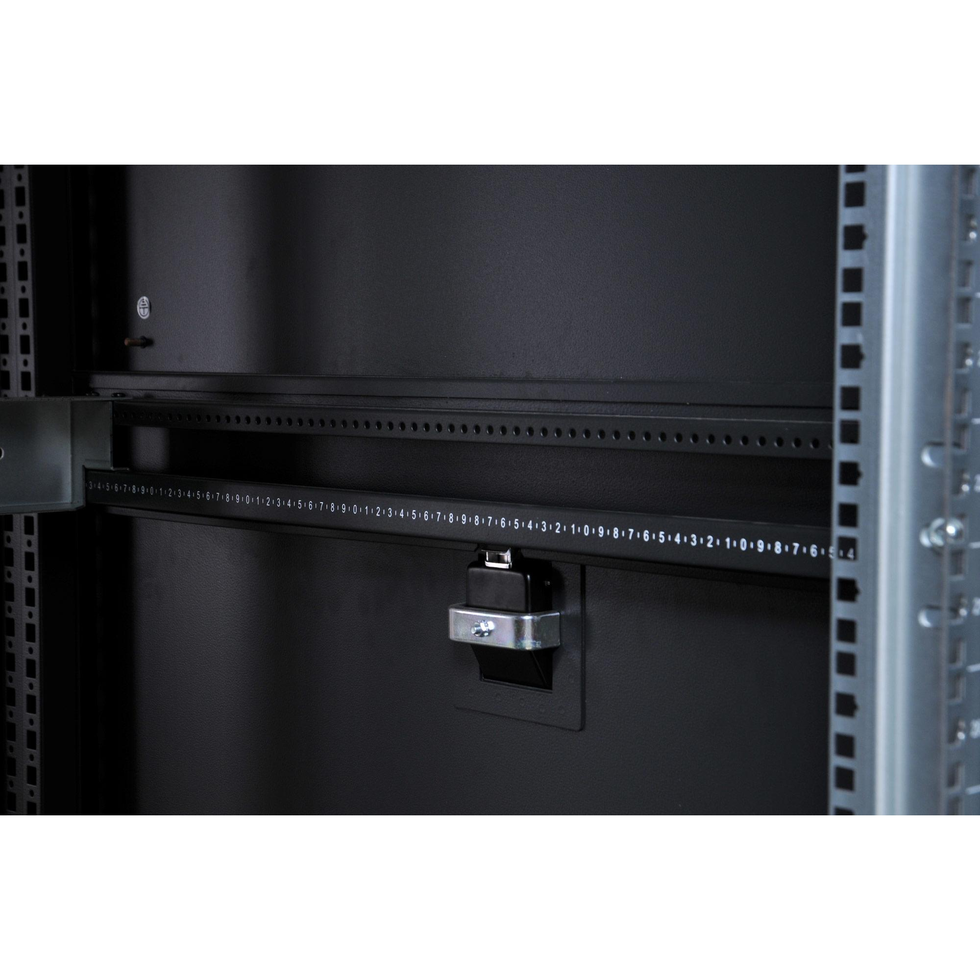 Armadio NetRack 19'' 600x1000 24 Unità Ventilato Nero da Assemblare