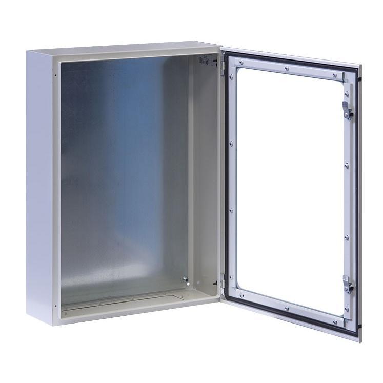 Armadio Rack 19'' a muro 13U grigio IP65 porta vetro prof. 200mm