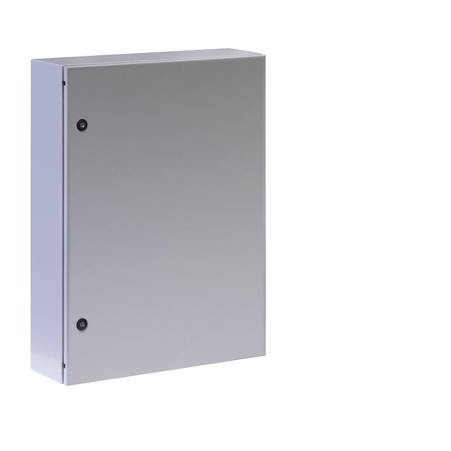 Armadio Rack 19'' a muro 17U grigio IP65 porta cieca prof. 200mm