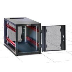 Armadio Server Rack 19'' 600x1000 14 Unità Nero Assemblato