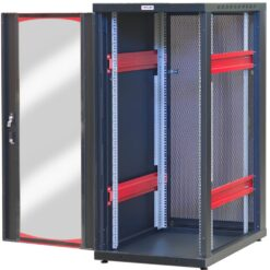Armadio Server Rack 19'' 600x1000 27 Unita' Nero serie IdealNET