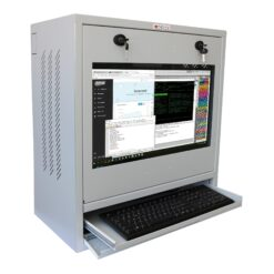 Armadio di sicurezza per PC, monitor touch LCD e tastiera Grigio