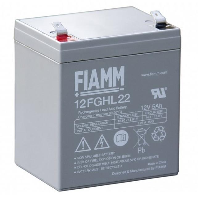 Batteria Piombo-Acido 12V 5,0Ah (Faston 6.3mm)