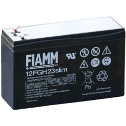 Batteria Piombo-Acido 12V 5,0Ah Slim (Faston 4,8mm)