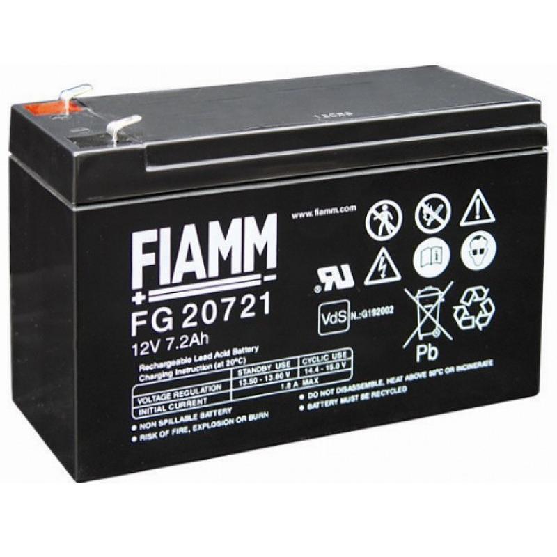 Batteria al Piombo 12V 7,2Ah (Faston 4,8mm)