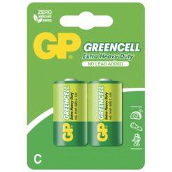 Blister 2 Batteria Greencell Zinco/Carbone Mezza Torcia C R14