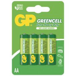 Blister 4 Batteria Greencell Zinco/Carbone Stilo AA