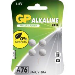 Blister 4 Batterie Alcaline Specialistiche a Bottone A76 1,5V