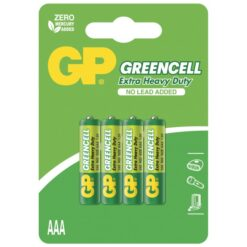 Blister 4 Batterie Greencell Zinco/Carbone MiniStilo AAA R03