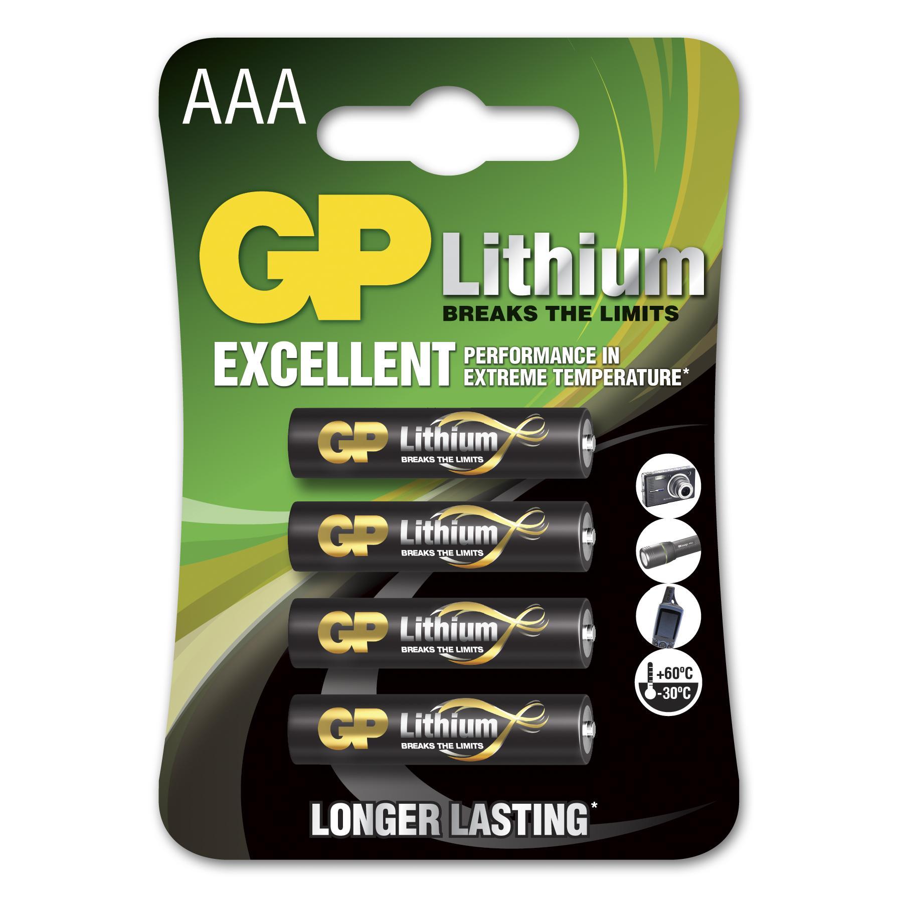 Blister 4 Batterie Litio Mini Stilo AAA 1,5V/24LF Longest Lasting