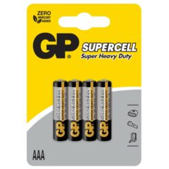 Blister 4 Batterie Supercell Zinco Carbone Ministilo AAA R03