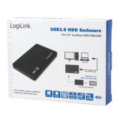 Box Esterno HHD/SSD 2.5'' da SATA a USB3.0 Screwless con Cavo