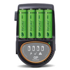 Caricabatterie Rapido 4 AA/AAA con 4 batterie AA 2600mAh USB/Auto