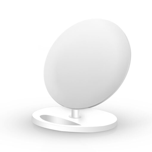 Caricabatterie Wireless Fast Qi Stand Verticale 10W Bianco