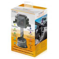 Caricabatterie Wireless Supporto Smartphone da Auto FM BT V4.2, 4779