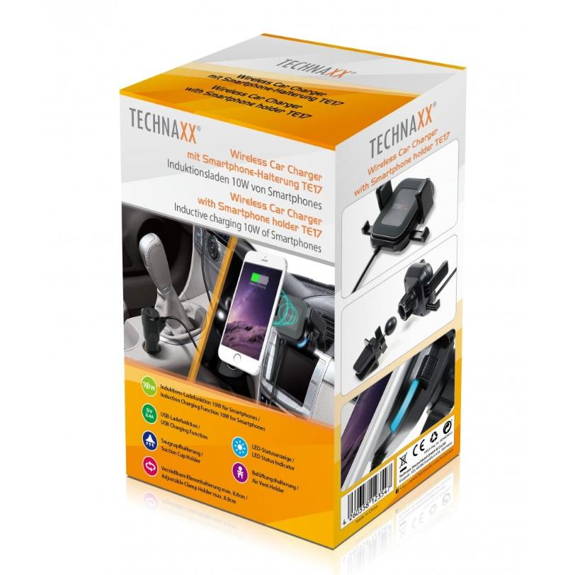 Caricabatterie Wireless Supporto Smartphone da Auto, TE-17