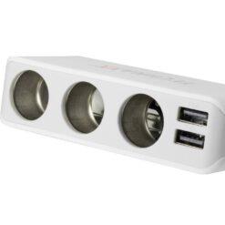 Caricabatterie da Auto 4x USB e 3 Prese Accendisigari, TE11